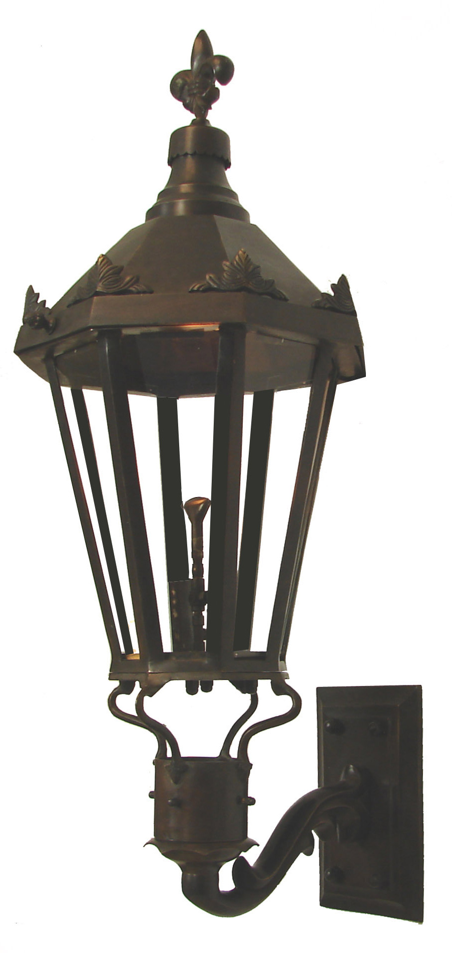 Gas Wall Mount Lanterns : Windsor Antique Bronze (Wall Mount) Gas Light Pro - French Quarter Lanterns