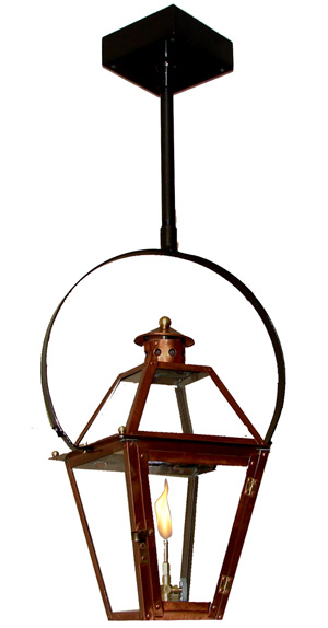 lantern on classic yoke gas light pro french quarter lanterns. Black Bedroom Furniture Sets. Home Design Ideas