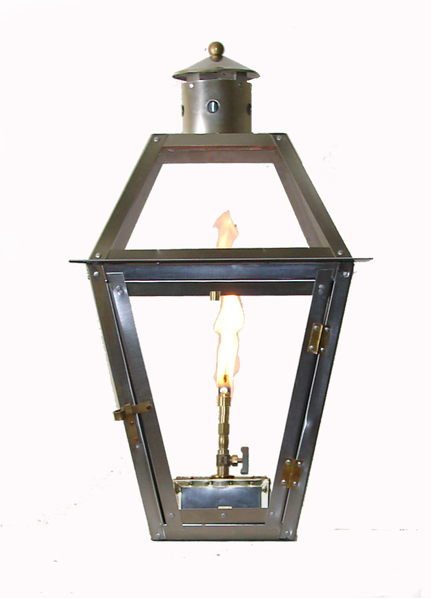 French Quarter stainless steel lantern with Flo-Glo™ stainless steel ... for Gaslight Lantern  70ref